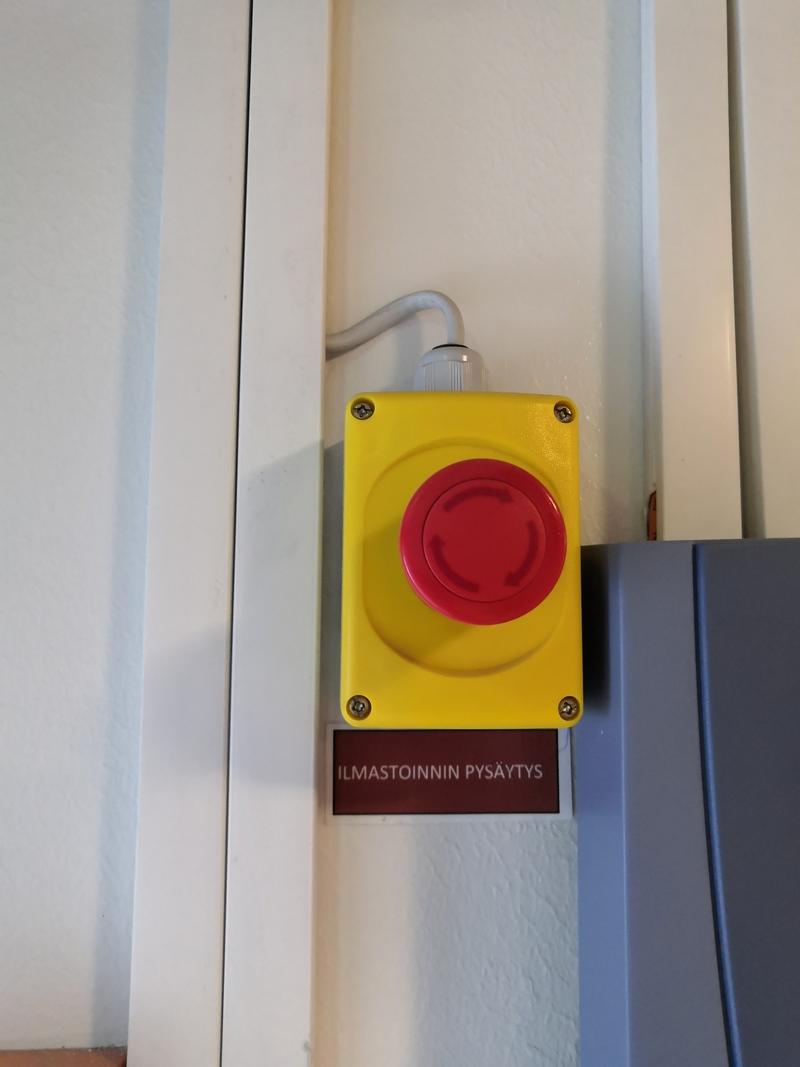Ilmastoinnin hätäseis-painike