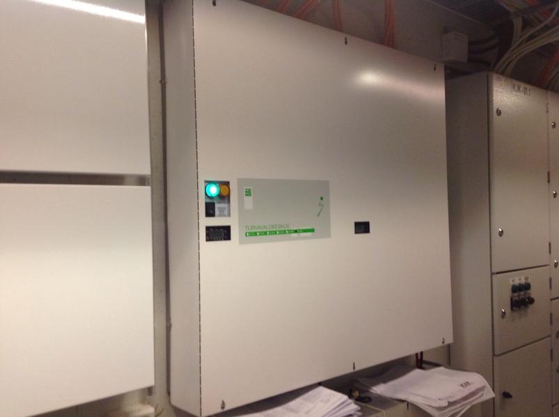 Turvavalokeskus sähköpääkeskuksessa