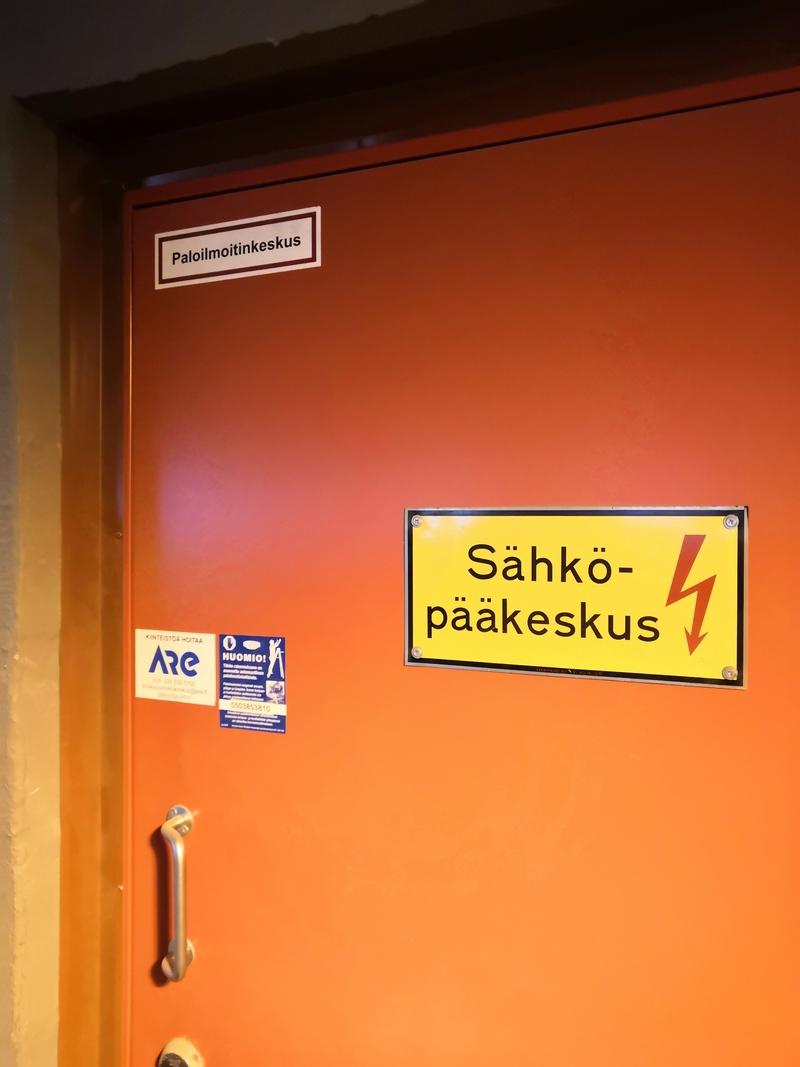 Sähköpääkeskus, paloilmoitinkeskus / Viestikatu 5